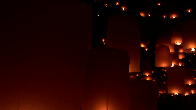 yipeng festival - sky lantern stock videos and b-roll footage