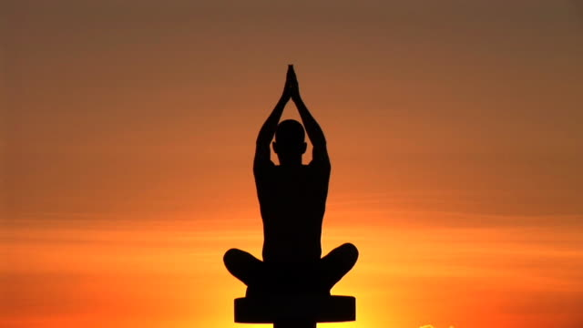 HD: Yoga At The Sunset video