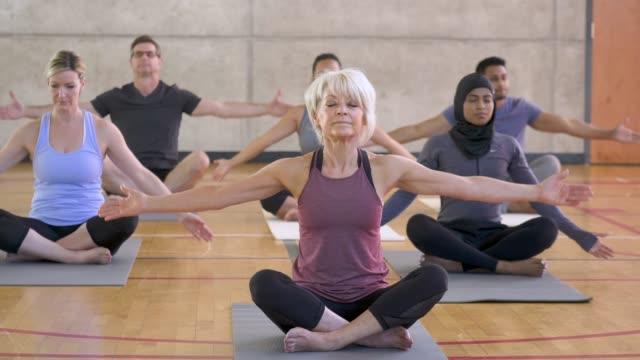 Yoga Class Prayer Pose