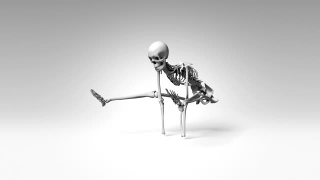 Yoga Firefly Pose Of Human Skeletal video