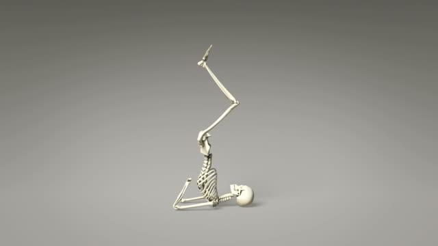Yoga Shoulder Stand Pose Of Human Skeletal video
