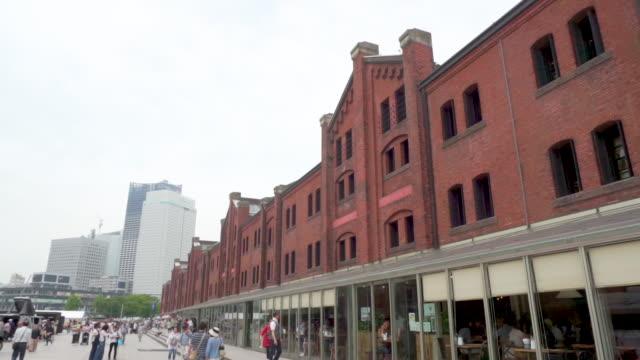 横浜の赤レンガ倉庫 - 煉瓦点の映像素材/bロール