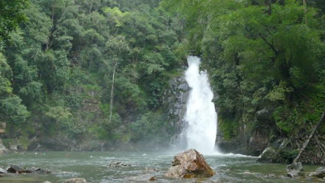 Yong Waterfall National Park Yong Waterfall National Park, Nakhon Si Thammarat, Thailand nakhon si thammarat stock videos & royalty-free footage