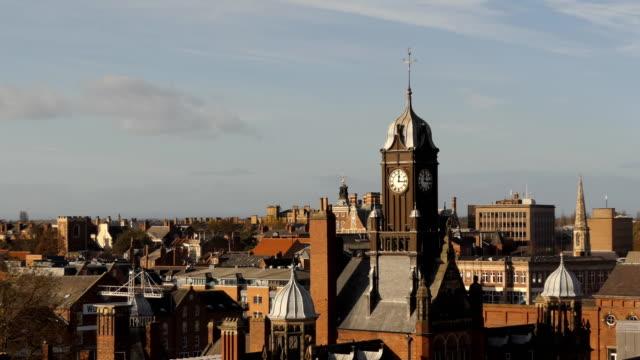York centre center cityscape aerial view