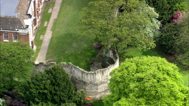 York City Walls  - Aerial View - England,  York,  United Kingdom video