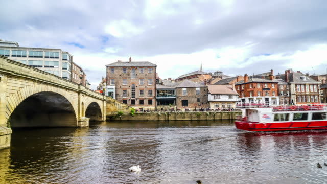 York city with river in England, United Kingdom
