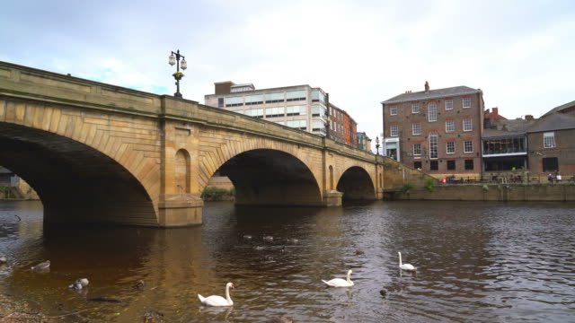 York City with River Ouse in York ,UK - vídeo