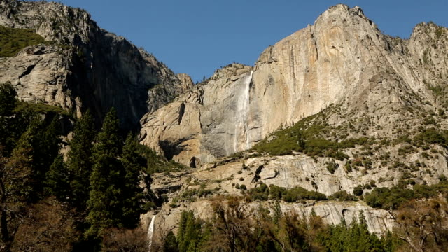 Yosemite Falls. Waterfall in Yosemite National Park video