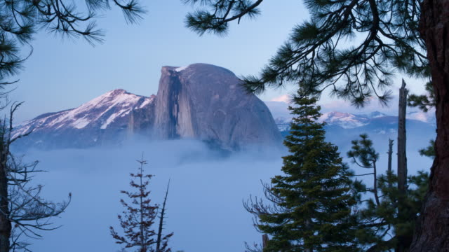 Yosemite National Park Half Dome in Low Clouds