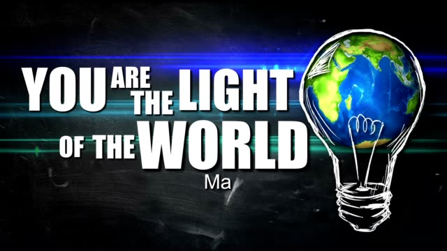 You are The Light of the World Looping Animation video