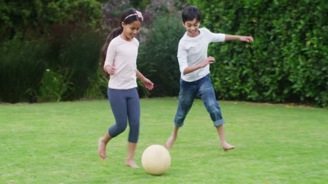 You promised to let me score! 4k footage of two young siblings playing soccer in their backyard sister stock videos & royalty-free footage