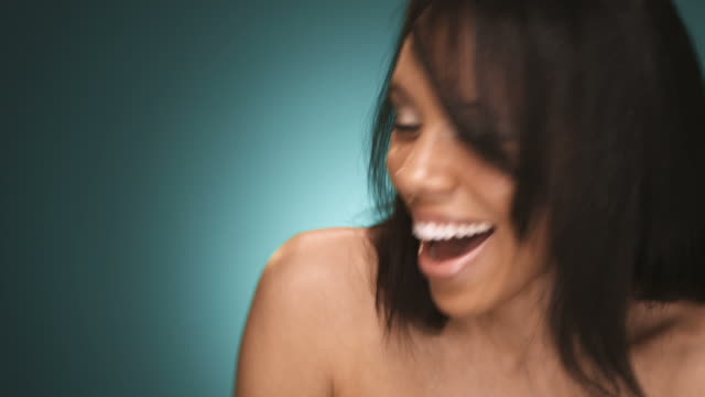 Young African American Woman Laughing video