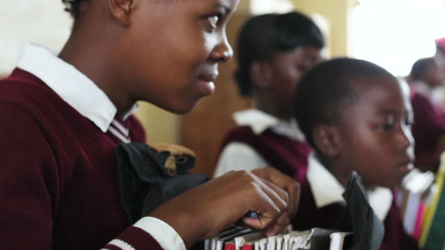 Young African school girl video