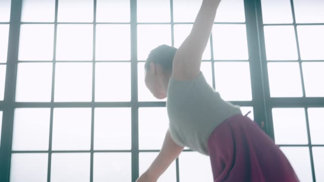 Young and Beautiful Ballerina doing ballet video
