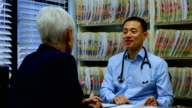 istock Young Asian male doctor and senior patient interacting with each other at clinic 4k 1129996020