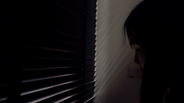 Young Asian Woman Cleaning The Window Indoors At Home video