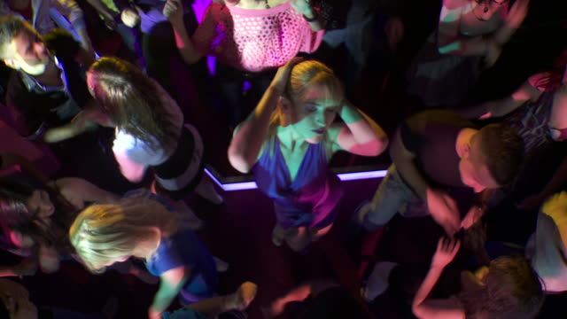 HD: Young Attractive Woman Dancing In Club video