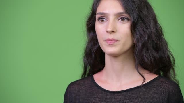 Young beautiful woman talking