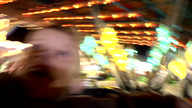 Young Boy Enjoying Carnival Ride_Time Lapse video