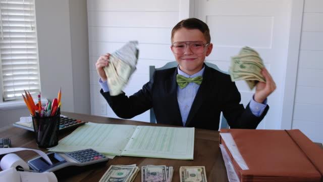 Young Boy Entrepreneur at Work