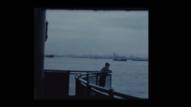 Young boy on Staten Island Ferry 1961 video
