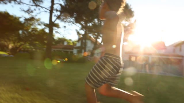 Young Boy Running video