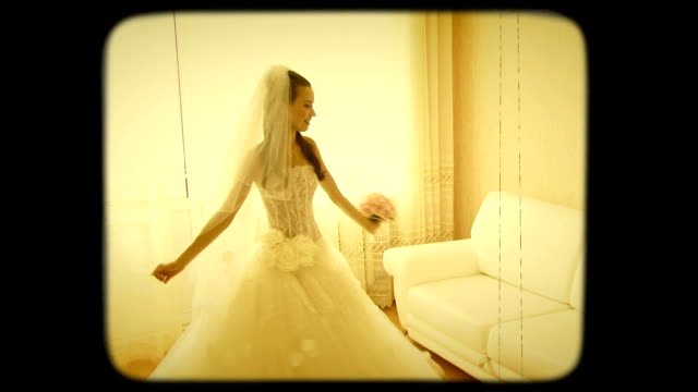 Young Bride Spinning In The Room video