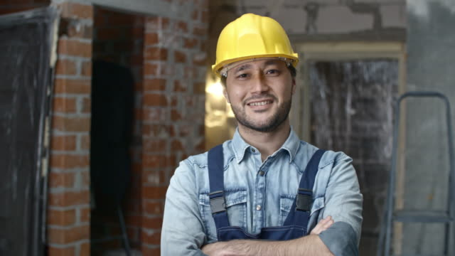 Young Builder Posing video