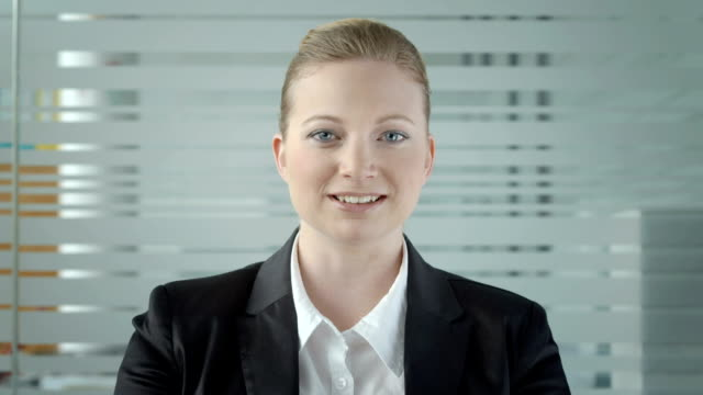 HD: Young Businesswoman Having Video Conference video