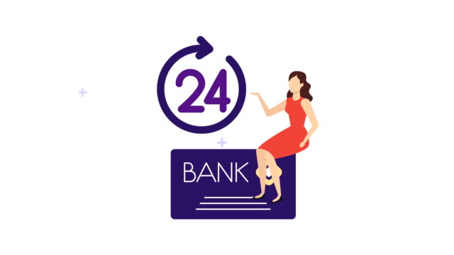 vídeos de stock e filmes b-roll de young businesswoman with credit card and 24 hours service - 20 24 anos