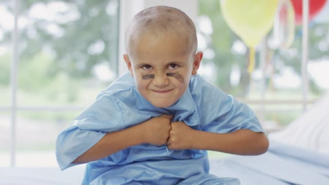 Young Cancer Patient Showing His Game Face video