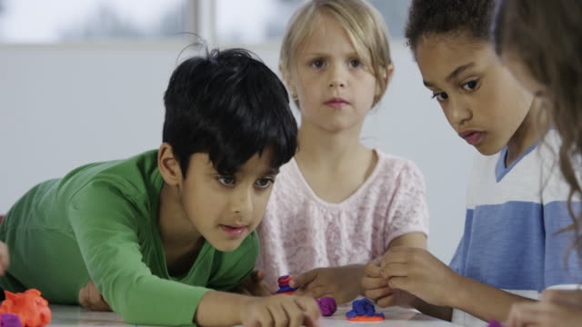 Young Children Playing with Clay video