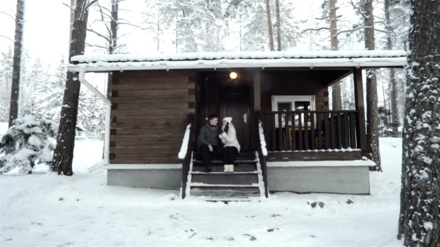 Young Couple Having Romantic Time Outdoor video
