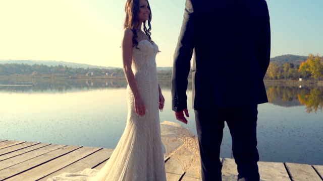 young couple in love - wedding fashion stock videos and b-roll footage