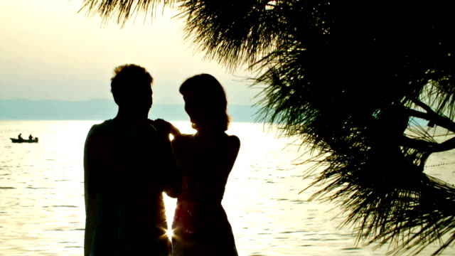 Young couple in the sunset video