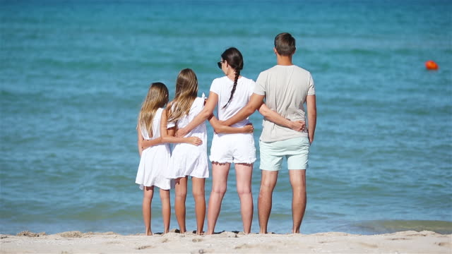 young family on vacation have a lot of fun - eastern european descent stock videos & royalty-free footage