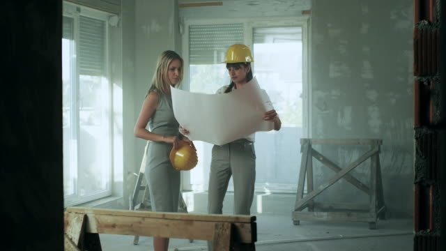 Young female architect with client video