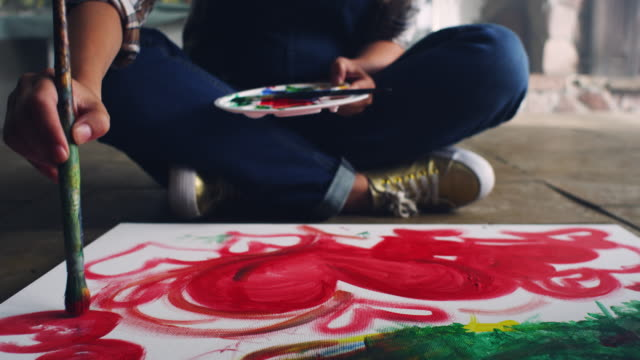 Young female artist video