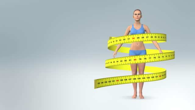 Genç kadın diyet - sağlıklı yaşam video