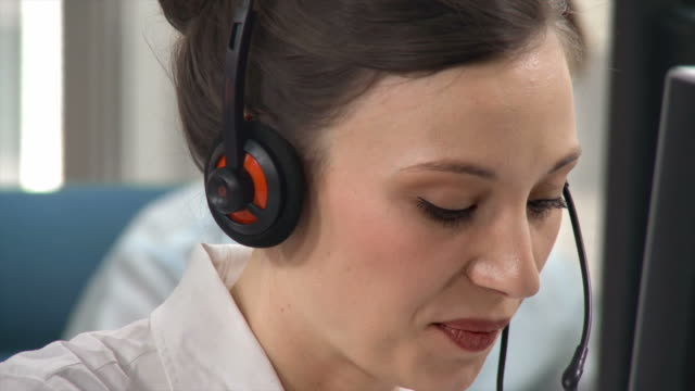 HD: Young Female Telephone Worker video