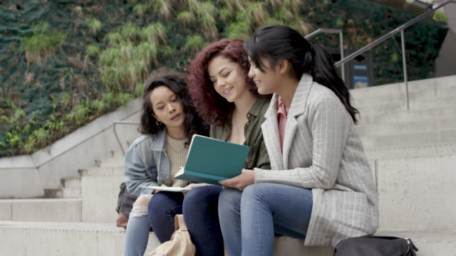 Young female university students video