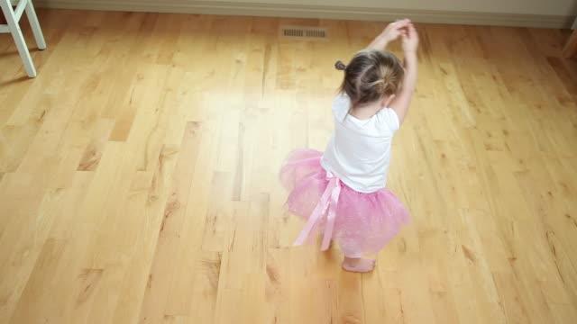 Young girl dancing like ballerina video