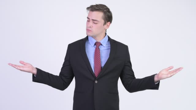 Young handsome businessman in suit
