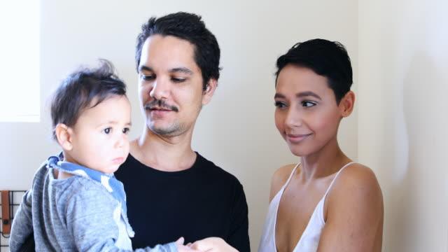 Young Happy Aboriginal Australian Family video