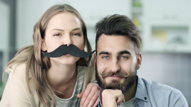 Young hipster couple video
