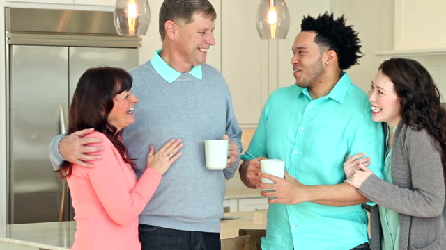 Young interacial couple, meeting the parents video