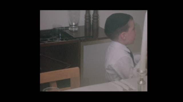 1964 Young jewish boys ready for Passover seder video