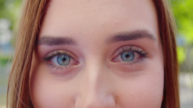 Young Lady's Eyes. Detail Shot
