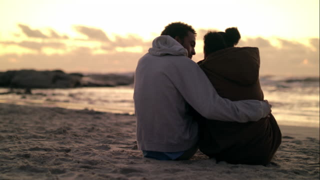 Young love by the ocean