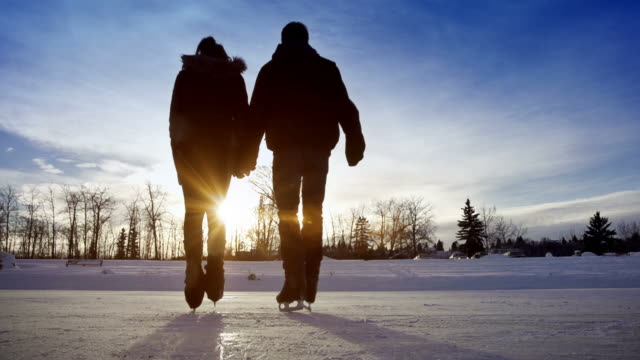 Young love flourishes while skating video